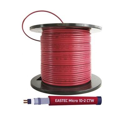 Саморегулирующийся греющий кабель EASTEC MICRO 10-CTW, SRL 10-2CR M=10W с пищевой оболочкой в трубу