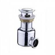 Сифон хромированный MAGdrain POP01-G (⌀41 мм, сухой магнитный клапан)