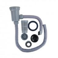 """Сифон YOYO-1 (3,5"""") для нержавеющей мойки с переливом и фильтр-стаканом"""